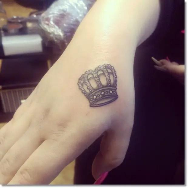 Womens Princess Crown Crown Tattoos