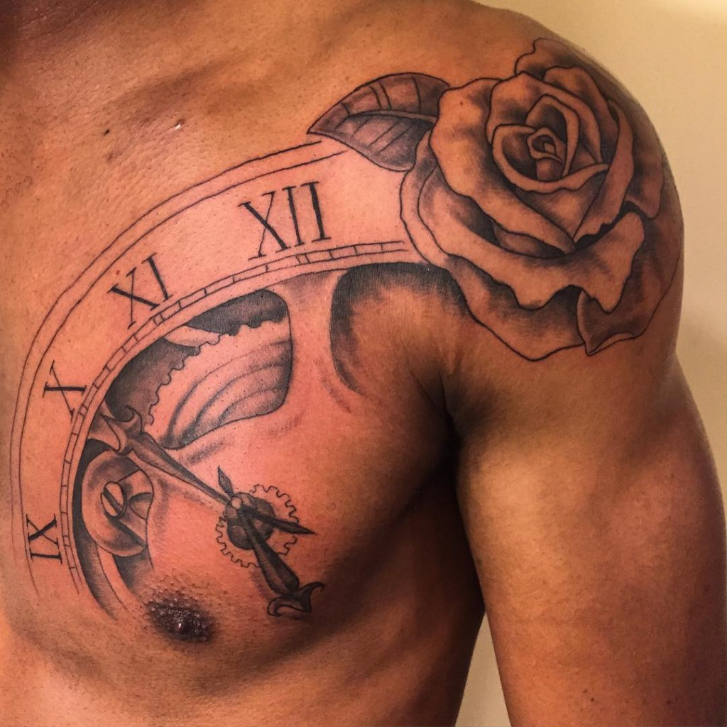 Small Rose Tattoo Collarbone