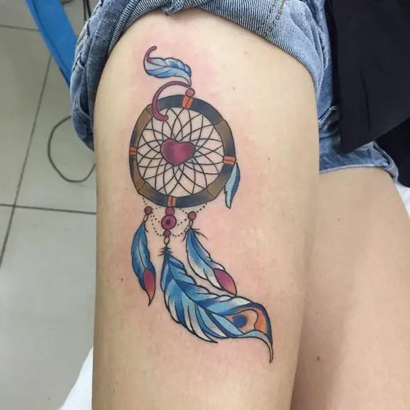 Small Dream Catcher Tattoo For Men