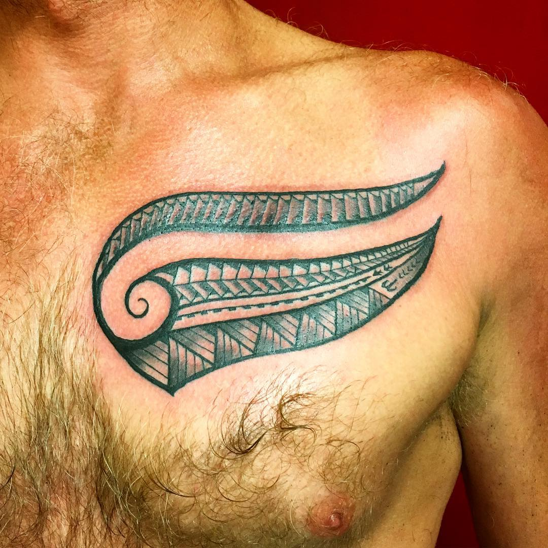 Simple Polynesian Tattoo Chest