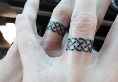 Love Finger Tattoo Designs