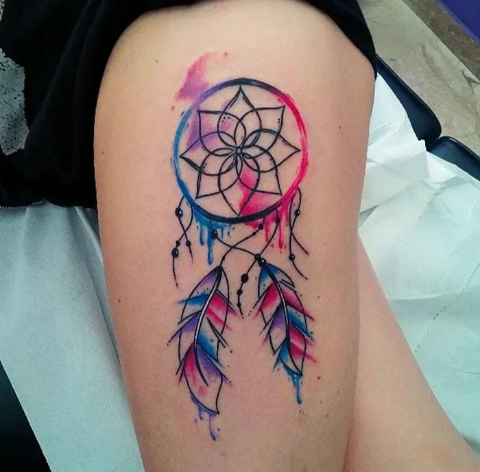 Tattoo Dreamcatcher Watercolour
