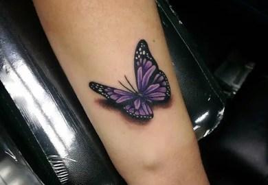 Purple Butterfly Tattoo Designs