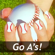 oakland athletics baseball nail