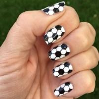 Soccer Nail Wraps | Black & White Hexagons