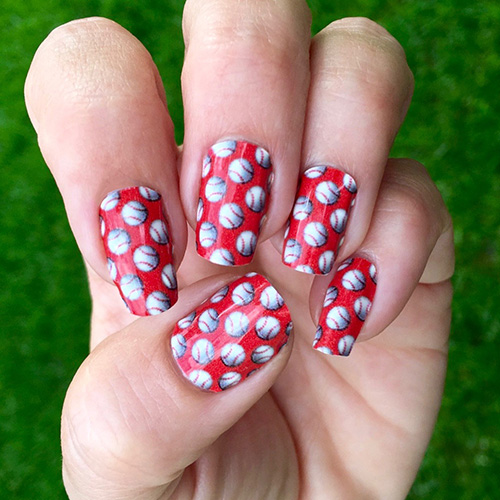 St Louis Cardinals Baseball Nail Decals