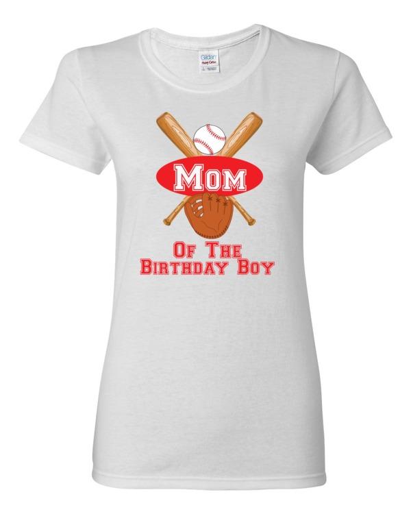 Mom Of The Birthday Boy Baseball T Shirt Shirts