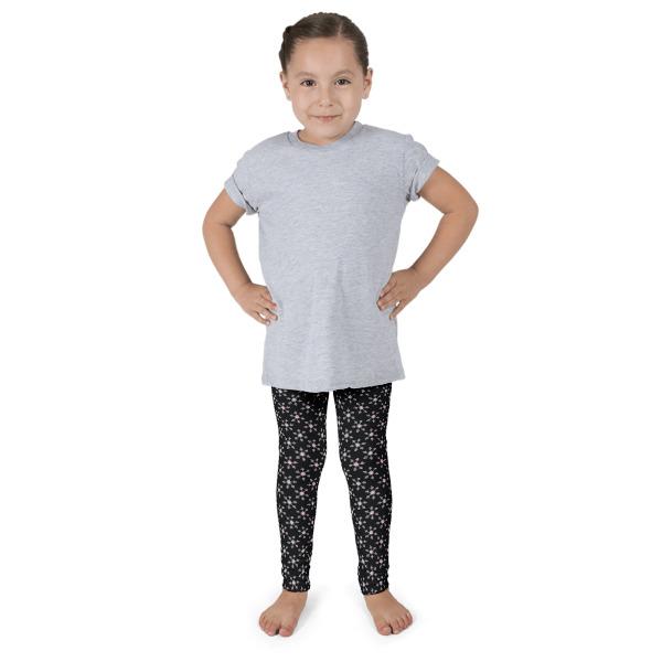 Christmas Black Snowflake Kid's leggings