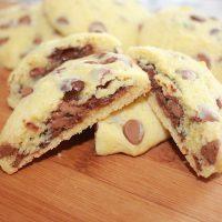 Sjokolade Chip cookie fylt med nutella