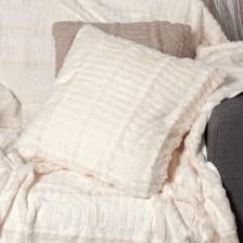 Διακοσμητική Μαξιλαροθήκη (45x45) Silk Fashion Stripe Ivory