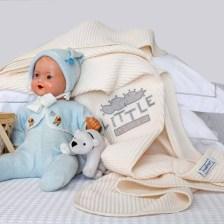 Κουβέρτα Πικέ Αγκαλιάς Melinen Riviera Little Dreamer Ecru