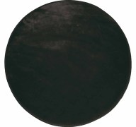 Στρογγυλό Πατάκι (Φ90) L-C Velvet Louna Noir 1603065