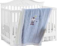Κουβέρτα Πλεκτή Αγκαλιάς Με Γουνάκι Sb Home Baby Scooter