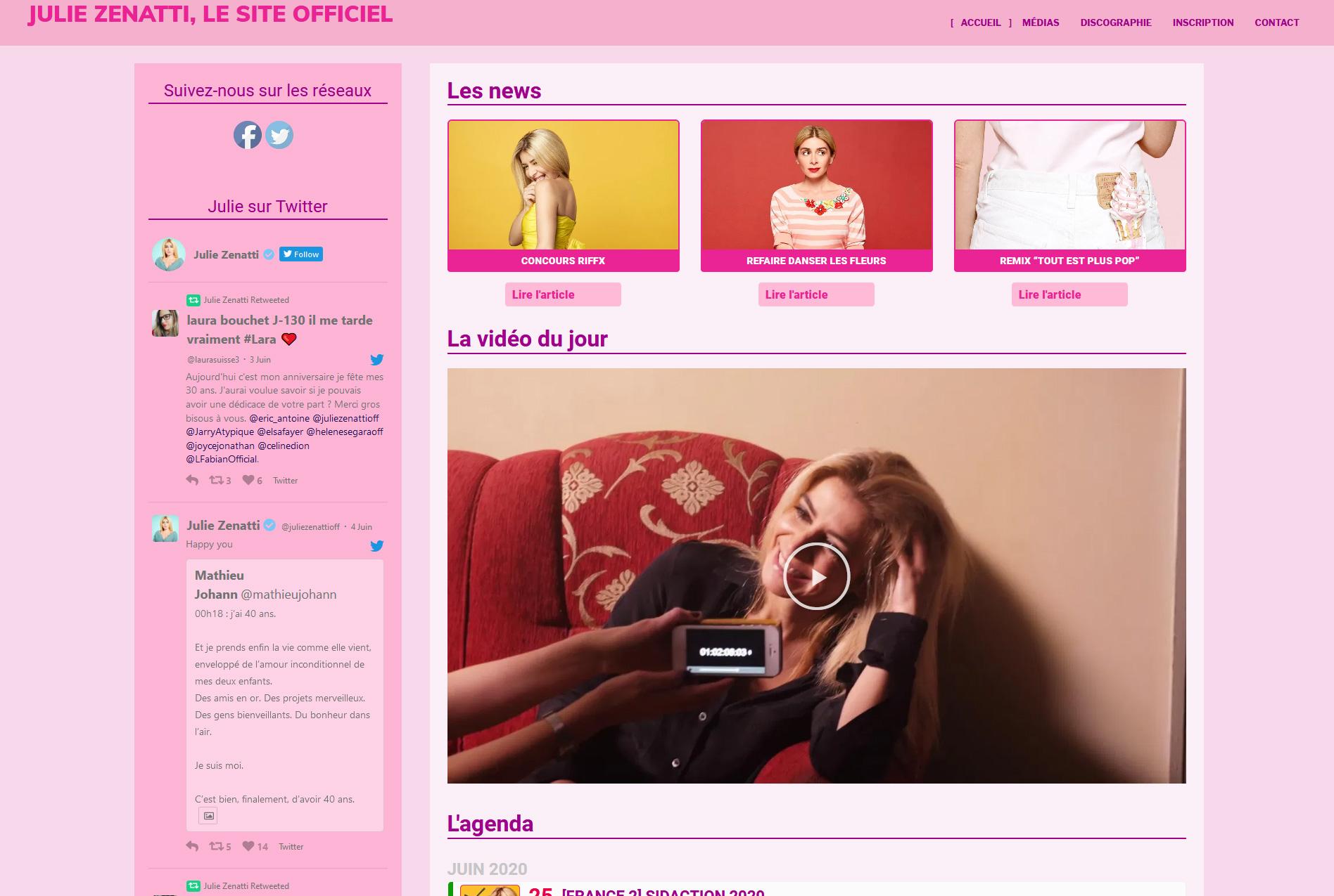 Le site officiel de Julie Zenatti
