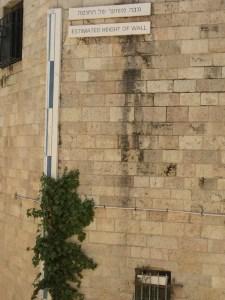 Estimated height of Hezekiah's wall.