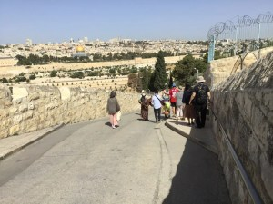 Street going down the Mount of Olives