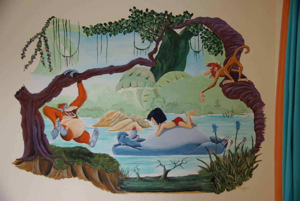 Junglebook muurschilderingen