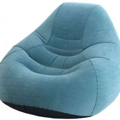 Inflatable Lawn Chair Instant Beach Intex Deluxe Beanless Bag Chair- Classic Teal - Air Beds And Pillows