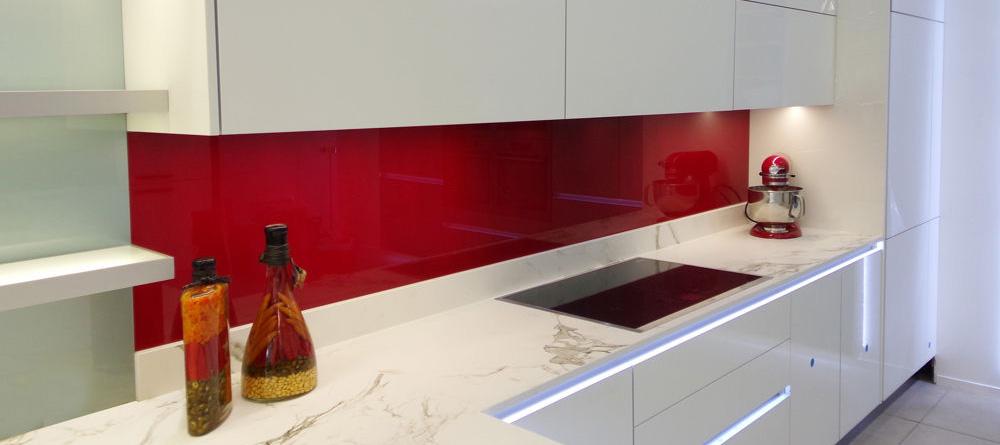 kitchens on clearance kitchen aid ranges glass - coloured splashbacks uk