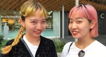faces colored hair girls