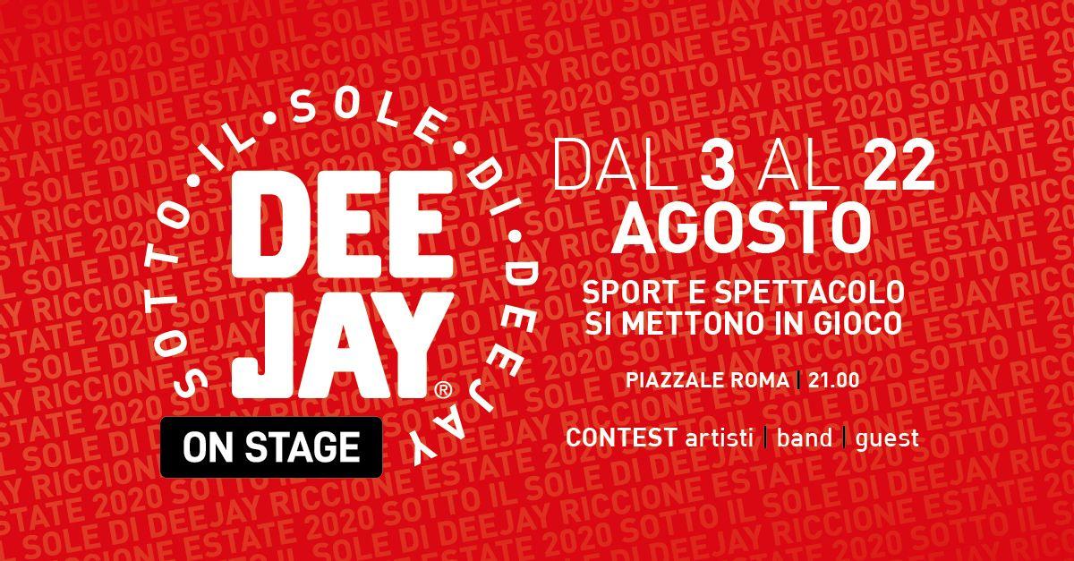 Deejay On Stage 2020: ecco il cast delle serate a Riccione!
