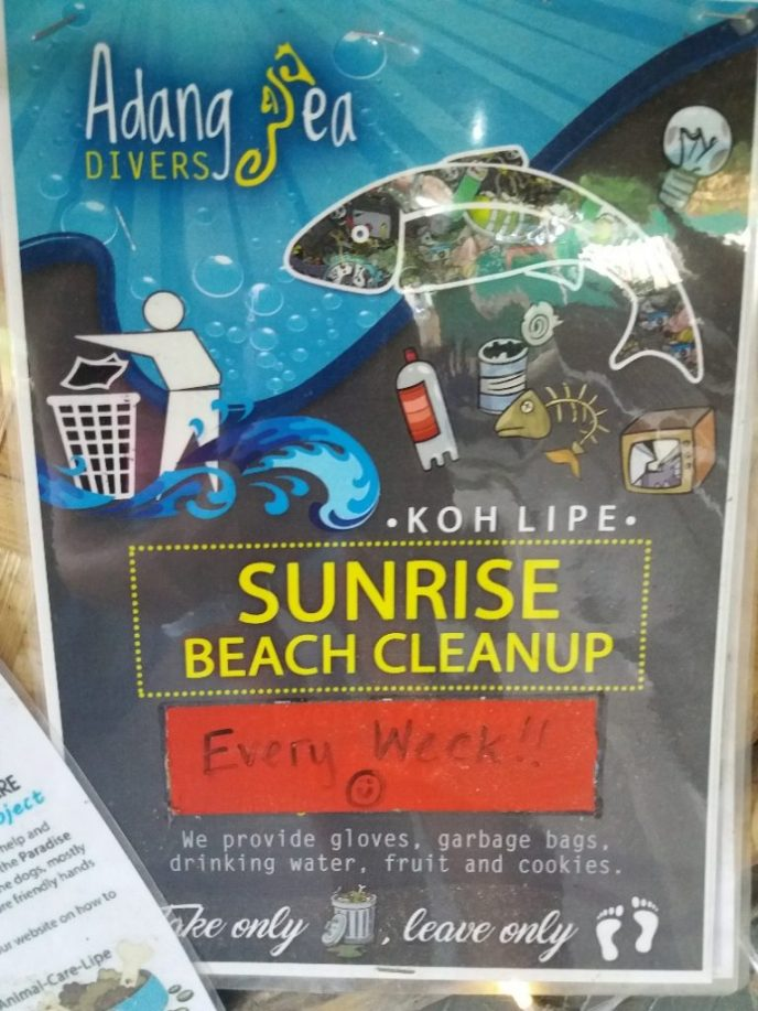 Weekly Beach Clean Ups with Adang Sea Divers