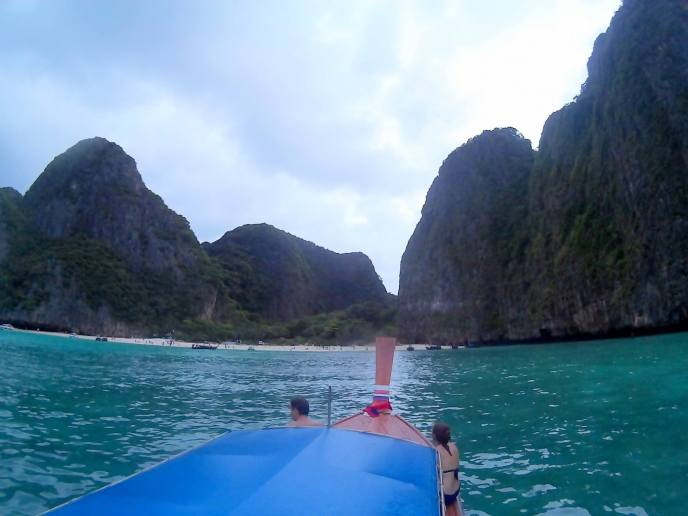 Maya Bay, known from the movie ´the Beach´