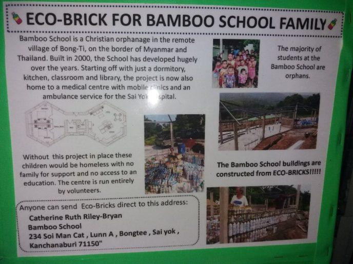 Eco-Brick for bamboo school family