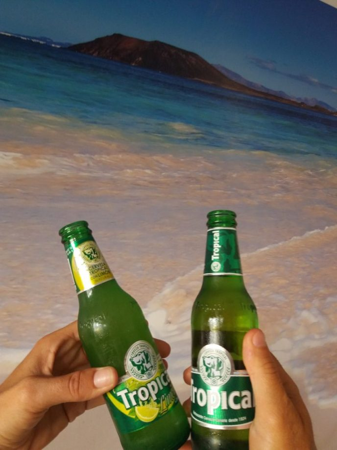 ´Cerveza Tropical´, the beer of Canarias