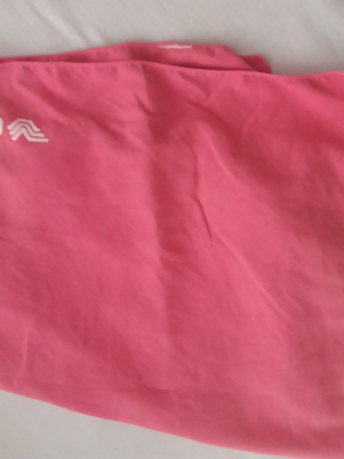 Pink female micro towel for scuba dive travel