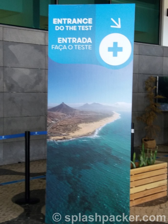 travel and getting coronvirus tested on the airport of Funchal, Madeira Island