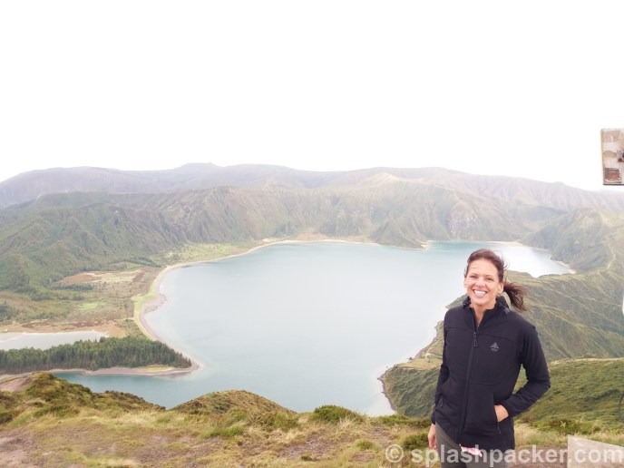Fogo lake, the fire lake, on Sao Miguel Island on the Azores