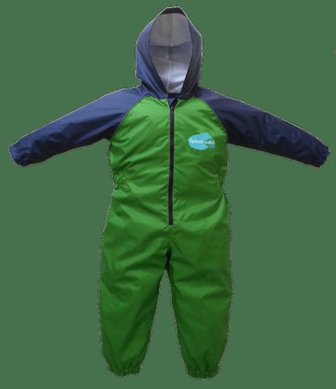 Front - Dinosaur Splashsuit   Kids Splash Suit   Rain Suit