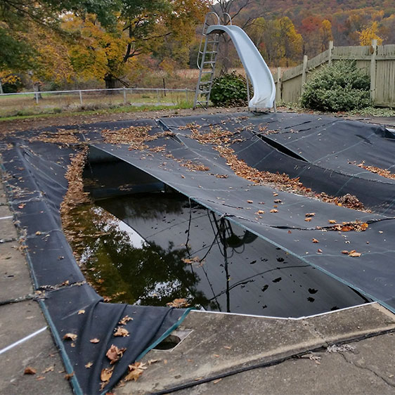 winter pool cover issues pool