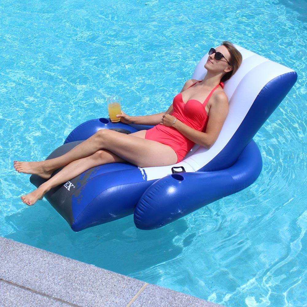 Poolmaster Adjustable Chaise Floating Lounge  Inflatable
