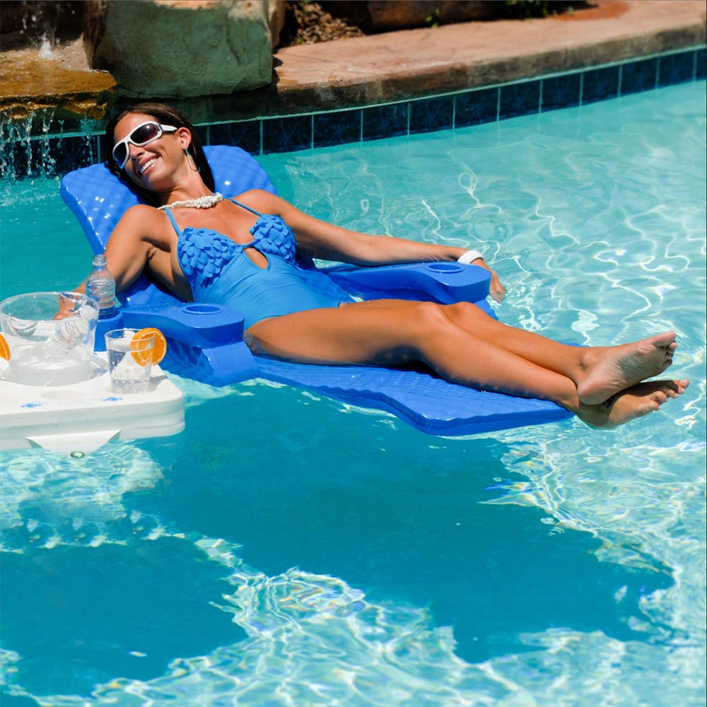 Texas Rec Baja II Lounge Blue  Pool Floats  Splash