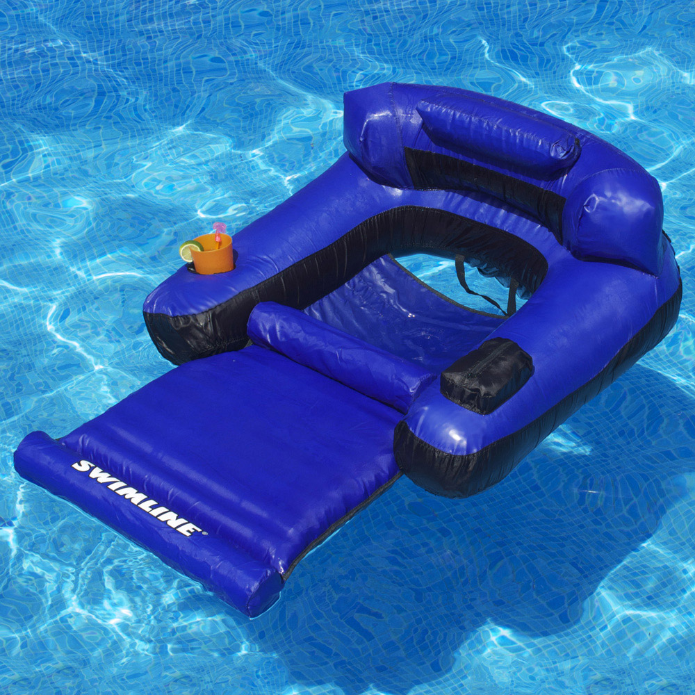 swimming pool floating chairs adirondack chair cushion swimline ultimate lounger inflatable lounges