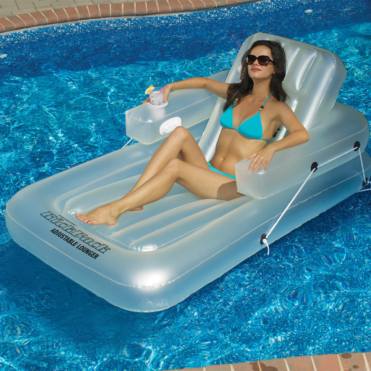 pool floating lounge chair jens risom poolmaster adjustable chaise inflatable