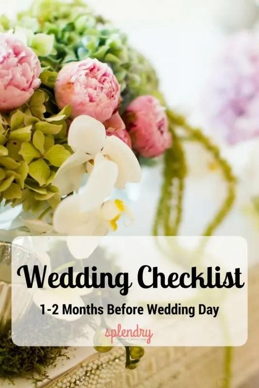 Wedding Checklist 12 months before wedding day  Splendry