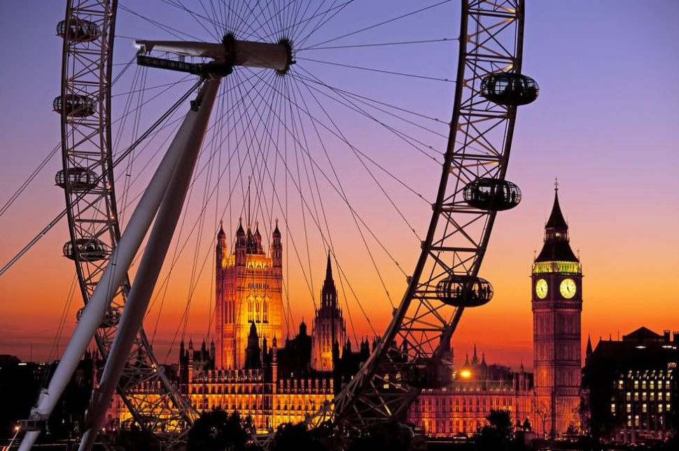 Beautiful-Sunset-View-Of-London-Eye