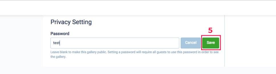 Splento online gallery with password
