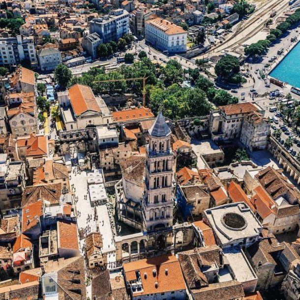 The Diocletian route panoramic flight - SplitAir