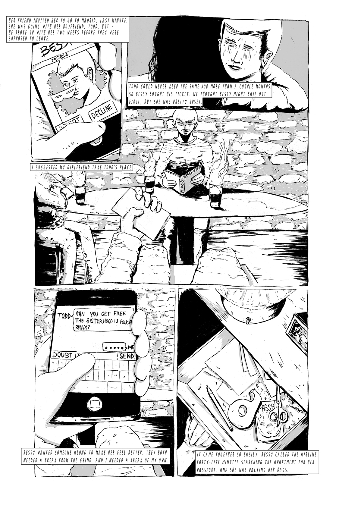 Eight Days Alone, page 2, by Sam Costello and Matthew Goik