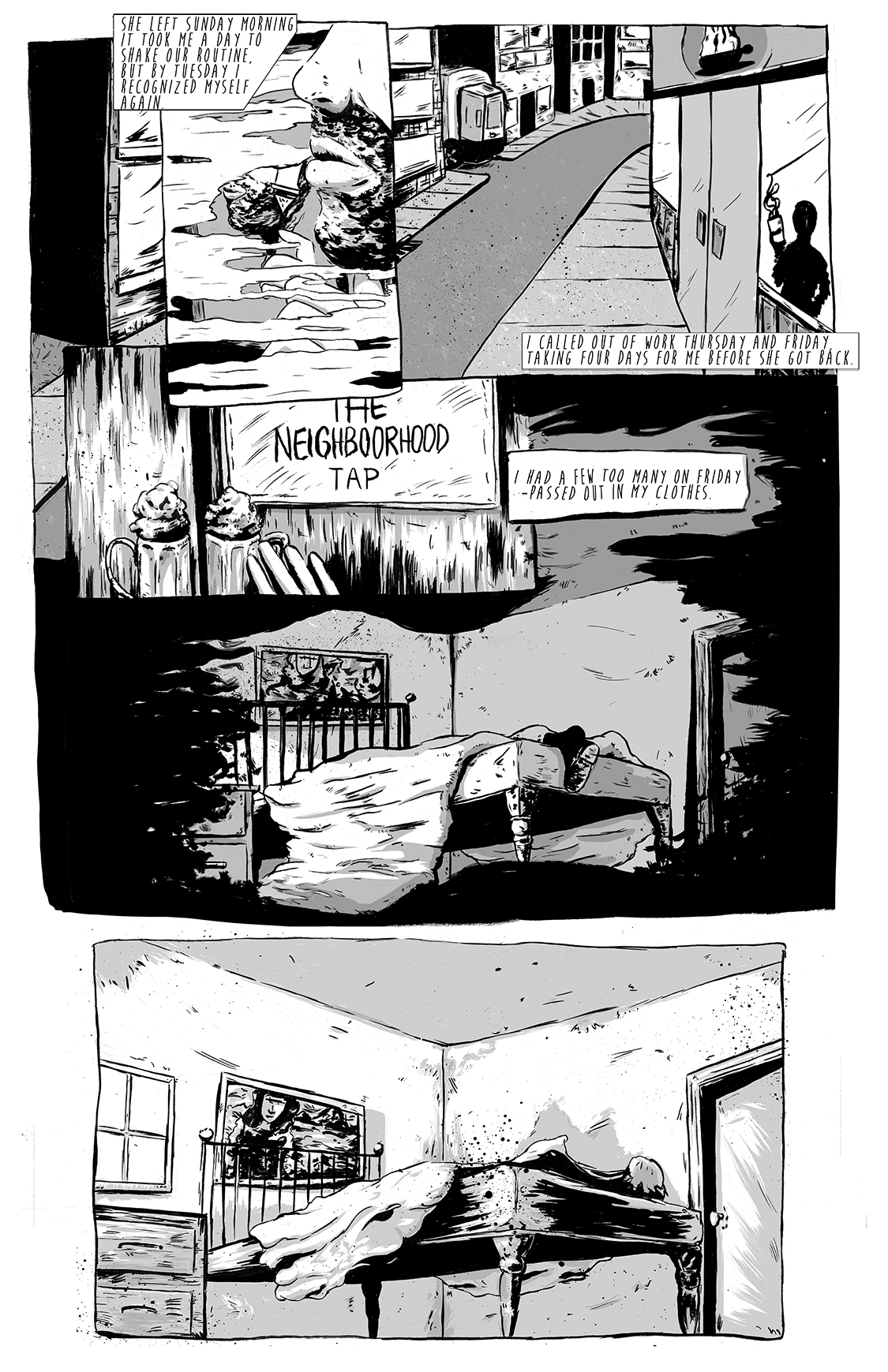 Eight Days Alone, page 4, by Sam Costello and Matthew Goik