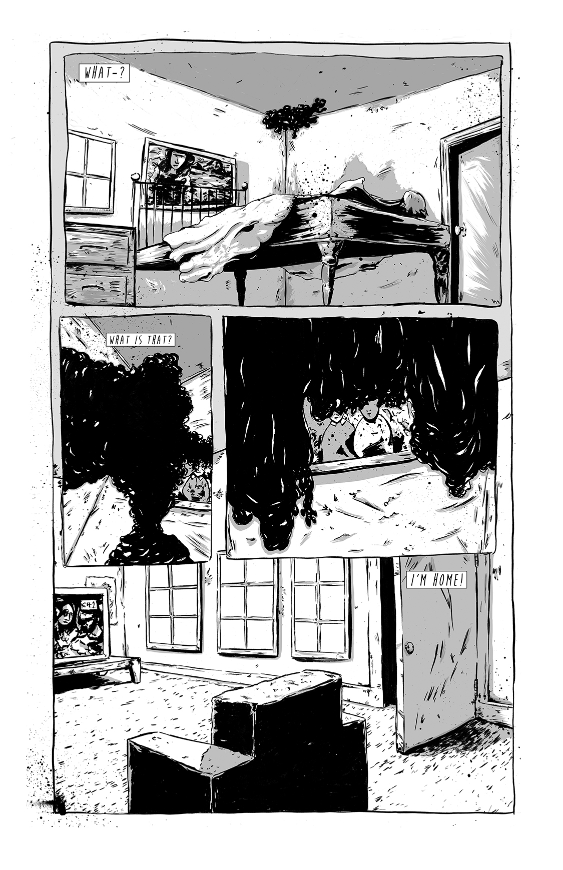 Eight Days Alone, page 5, by Sam Costello and Matthew Goik