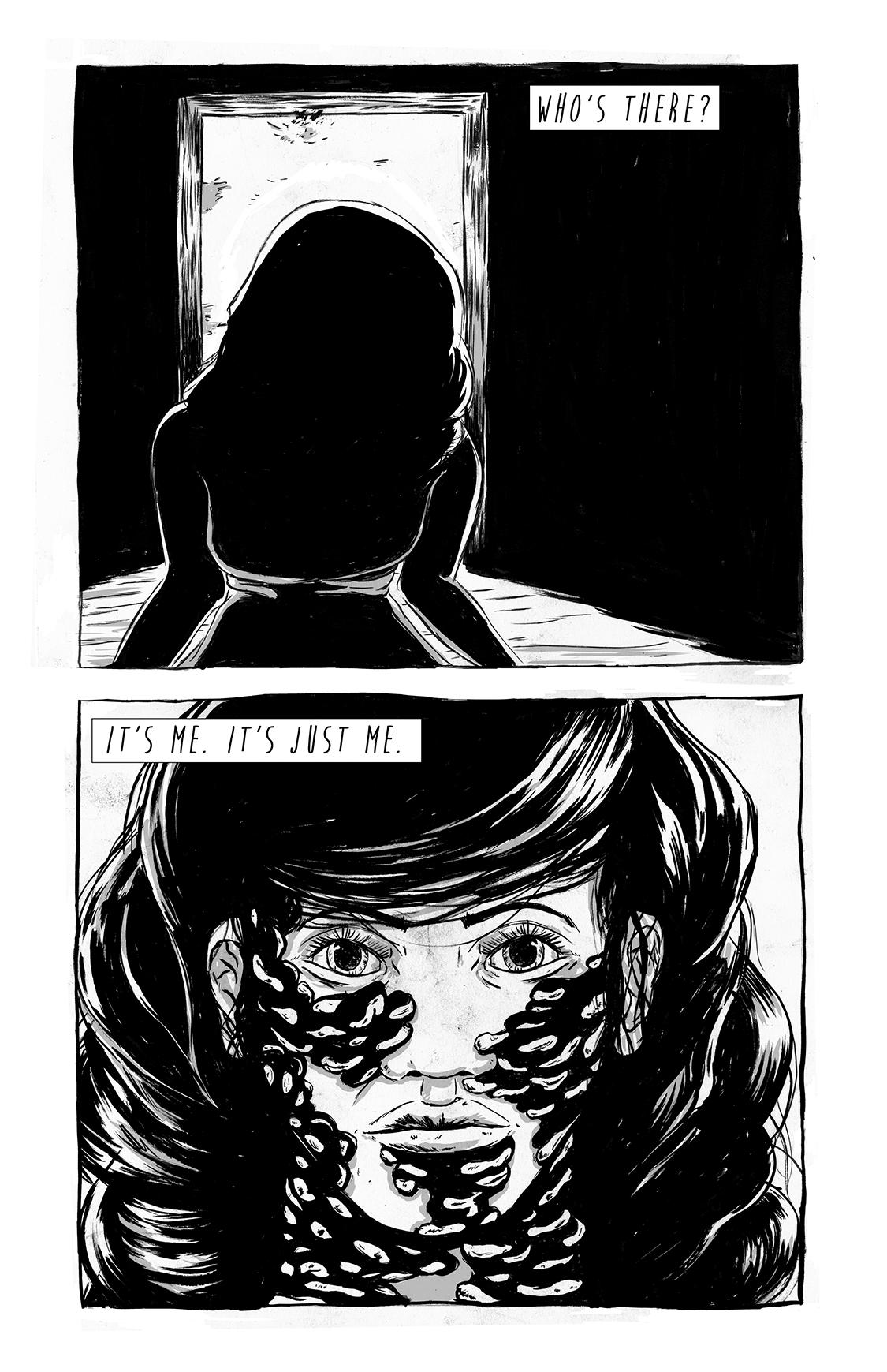 Eight Days Alone, page 15, by Sam Costello and Matthew Goik