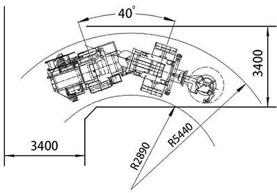 Jumbo radial top hammer longhole drill rig KS311 stoping