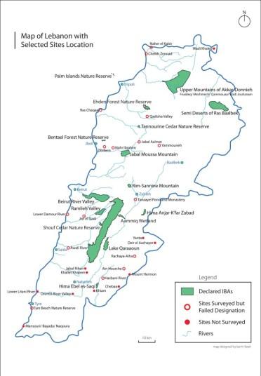 IBA Map Lebanon