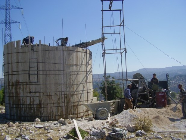 Water Tanks at Hima Upper Akkar before and after rehabilitation