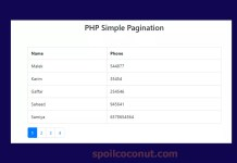 PHP Simple Pagination With Bootstrap